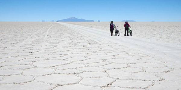 Crossing the Uyuni Salt Flats