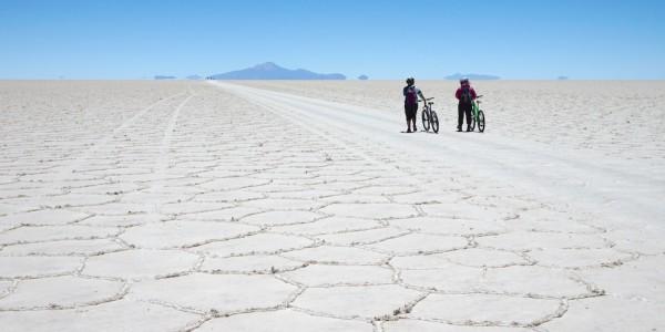 Crossing the Uyuni Salt Flats