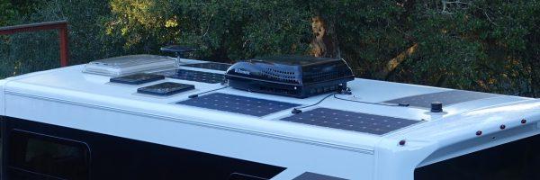 Five solar panels installed