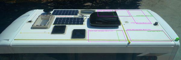 rv solar layout